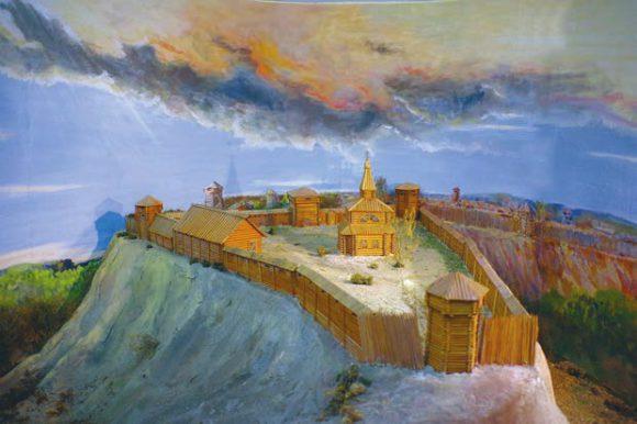 Макет Томского острога 1604–1605 годов
