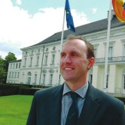 Максим в Берлине, дворец Бельвю, резиденция немецкого президента, июль 2016 года