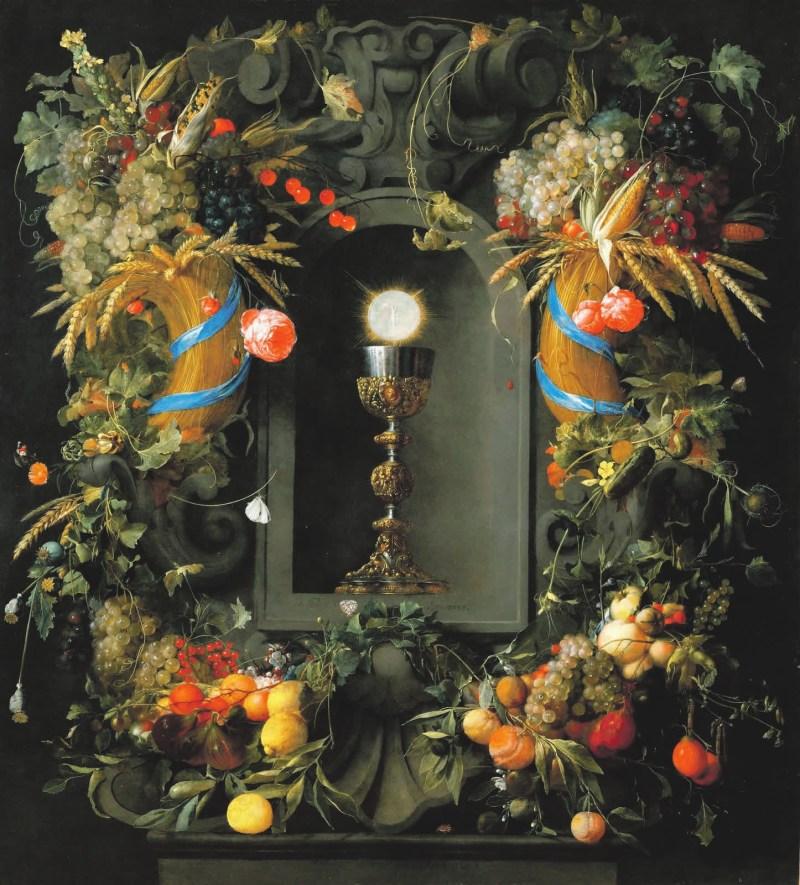 Рис. 4. Ян Давидс де Хем (Jan Davidsz de Heem, 1606 — 1683/1684). Гирлянда