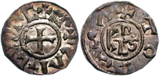 Денарии Карла Великого (ок. 742–814). (news.coinupdate.com и «Википедия»)