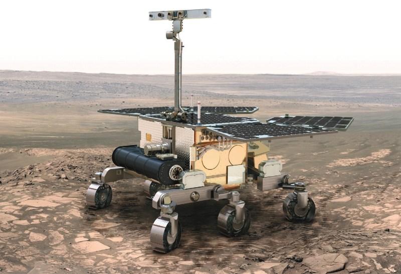 Марсоход российско-европейской миссии «ЭкзоМарс-2020». Изображение ESA с сайта www.nextinpact.com