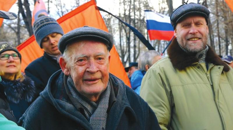 Академик Юрий Рыжов и профессор Федор Шелов-Коведяев. Фото М. Соколова (www.svoboda.org/media)