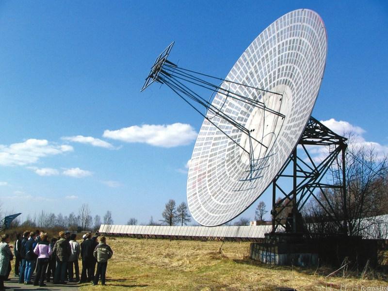 Большой пулковский радиотелескоп, прообраз крупнейшего в мире радиотелескопа РАТАН-600. Построен в 1956 году