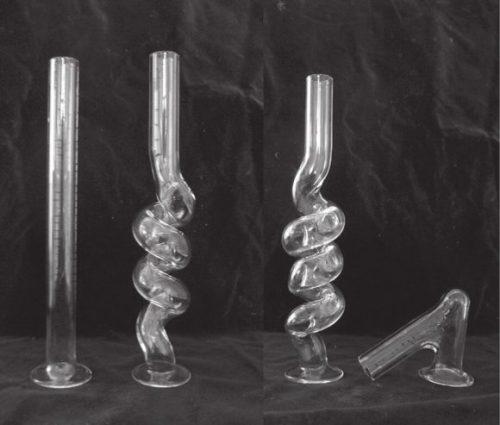 Рис. 2. Стеклянные трубочки — искусственные вагины, позволяющие наблюдать эверсию пениса [2]