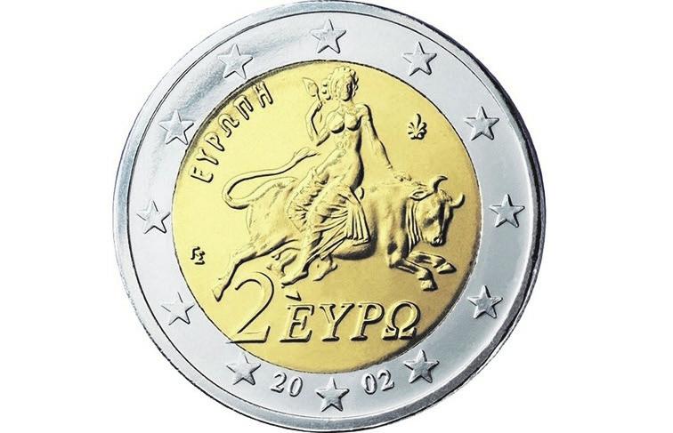 Рис.13. Греческая монета сЕвропой на быке