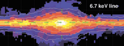 Рентгеновская карта центра Галактики по данным RXTE