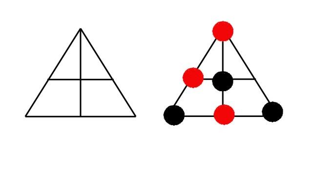 Рис. 6. Схематическое изображение знака и расстановка фишек для игры