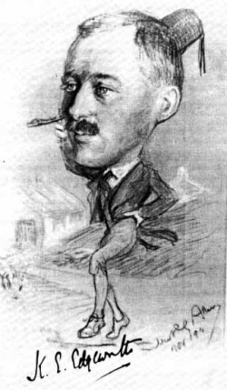 Кеннет Эджворт. Карикатура Royal Signals Museum Archive