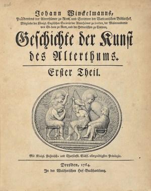 Первое издание «Истории искусства древности» (1764)