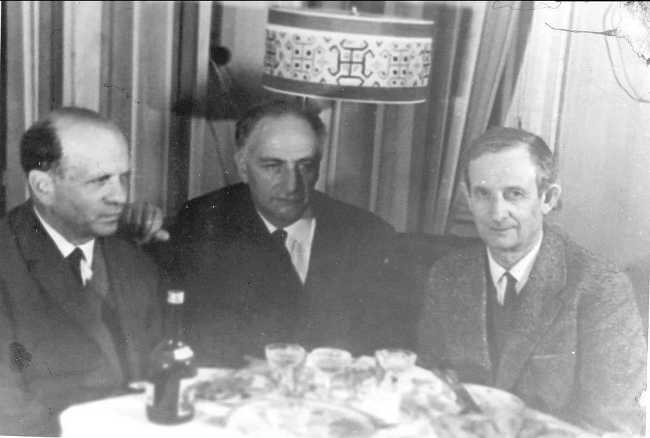 В.А. Цукерман, Л.В. Альтшулер и Ю.Б. Харитон в Сарове. 1960-е годы