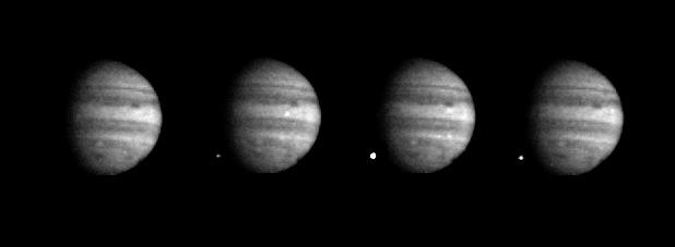 Падение обломка кометы W в 1994 г. Снимки «Галилео»