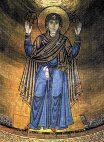 Мозаика «Богоматерь Оранта» (фото автора)