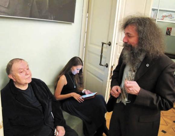 В. А. Успенский и М.С. Гельфанд. 2013 год. Фото Н. Деминой