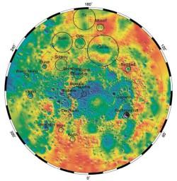 топографическая карта Меркурия
