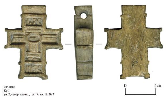 Костяной нательный крест