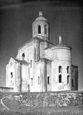 Состояние церкви на 1952 год. Фото М. Каверзнева