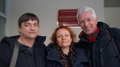 В. Егоров, М. Эйсмонт и М. Бирюков. Декабрь 2020 года. Фото Н. Деминой