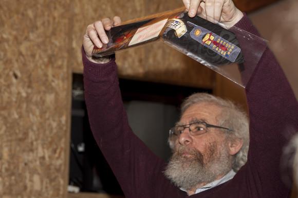 Михаил Фейгельман и Галина Цирлина подарили редакции необычные галстуки.