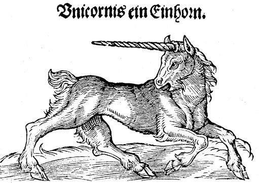 Единорог. Альберт ле Гран. «De animalibus» (1545). Источник: https://fr.wikipedia.org/wiki/Licorne