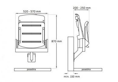 krzesełka stadionowe Rewia wisząca konstrukcja rysunek pdf