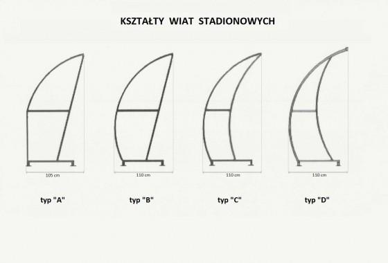 wiaty stadionowe rodzaje kształty prostar