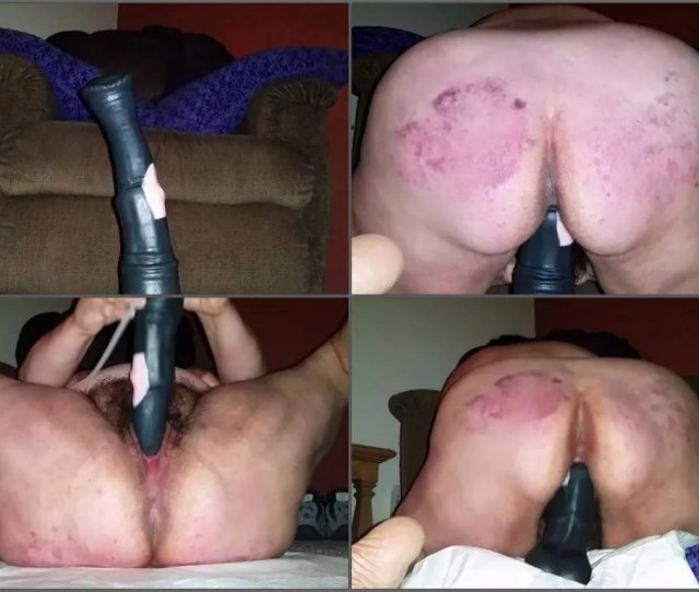 Ugly Granny Hardcore Rides On A Colossal Horse Dildo