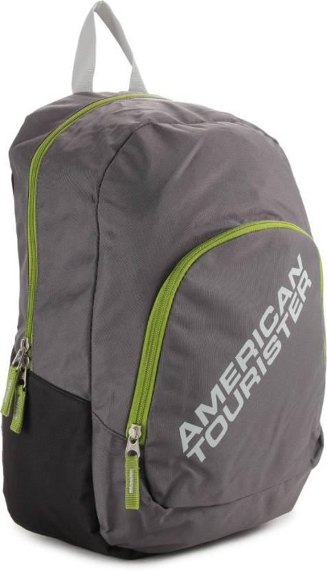 American Tourister Jasper Backpack  (Black, Grey)