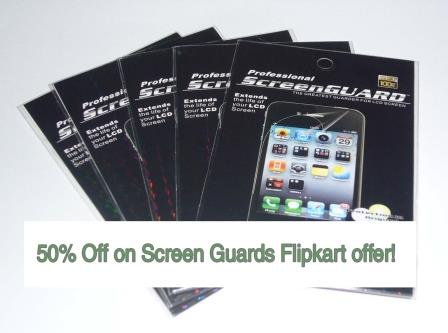 Mobile Phone Screen Protectors Flipkart 50% Off Discount