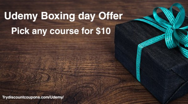 Udemy boxing day offer coupon code