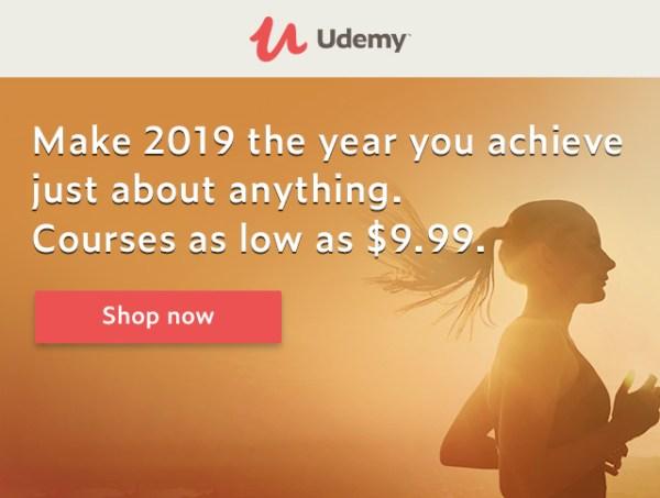udemy new year sale 2019