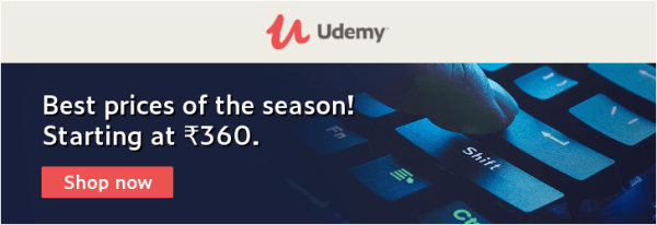 udemy rs 360 coupon 100k+ courses sale india