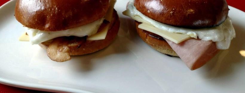 Panera Bread Bacon, Egg and Cheese on Brioche and Ham and Cheese on Brioche