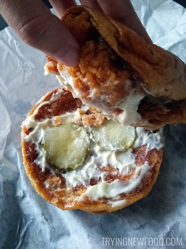 Popeyes Chicken Sandwich Inside