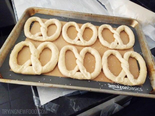 Auntie Anne's DIY At-Home Pretzel Kit before
