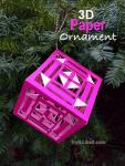 3d Paper Christmas Ornament - Square