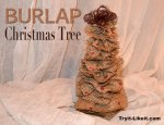 Burlap Christmas Tree Tutorial