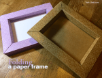 Folding a paper frame using Cricut Design Space
