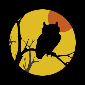 owl fall shadow box