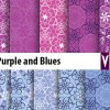 purple and blues