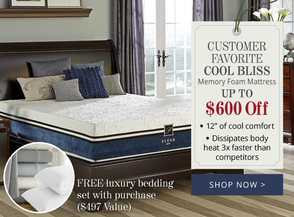 Try Any Mattress of Your Choice RISK-FREE @ Home W/ Free Delivery Cool_Bliss_Memory_Foam_Mattress PlushBeds Review ($1,250 off)