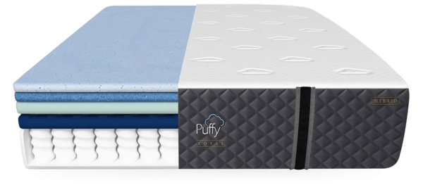 Try Any Mattress of Your Choice RISK-FREE @ Home W/ Free Delivery puffy-royal-hybrid-mattress-7-layers_600x Puffy Royal Hybrid Mattress Review ($300 off + 2 free pillows)