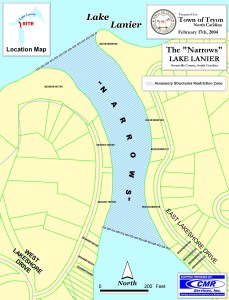 "Map of the ""Narrows"" of Lake Lanier"