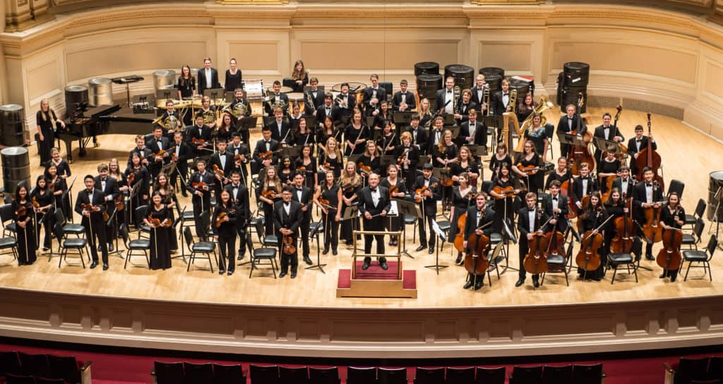 YPO on the stage of Carnegie Hall, NYC in June 2015