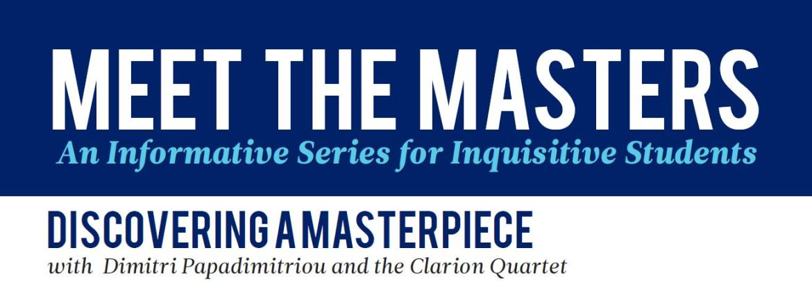 Meet the Masters: Discovering a Masterpiece. Saturday April 6 from 12:30-1:30pm