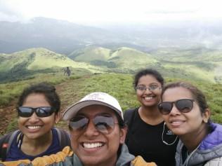 The us at the Tadiandamol Peak,Coorg