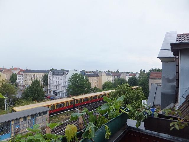 ベルリンの友達のフラット(シェアルーム)からみた景色