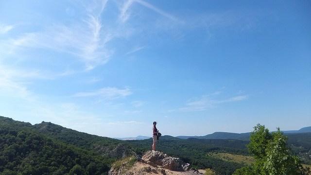 ハンガリーの田舎の裏山