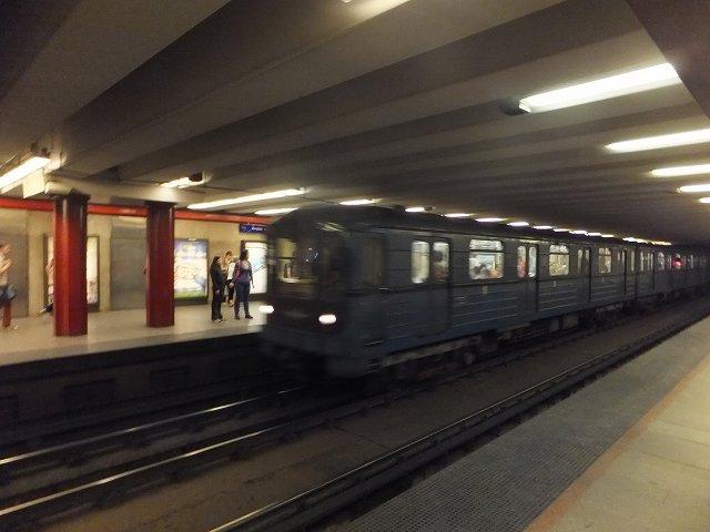 ハンガリーの地下鉄の写真