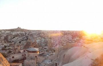 ギョレメの夕焼けポイントから見た景色