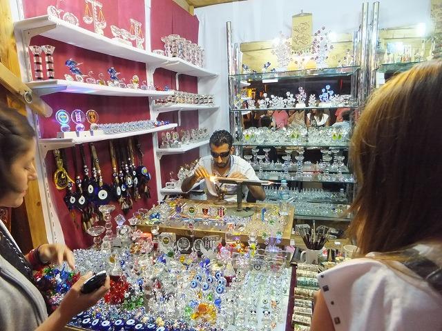 ガラス細工のお店、トルコ